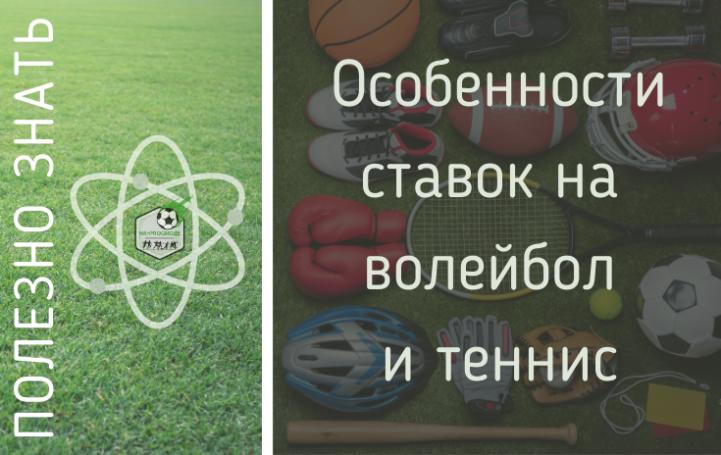 Особенности ставок на волейбол и тенис