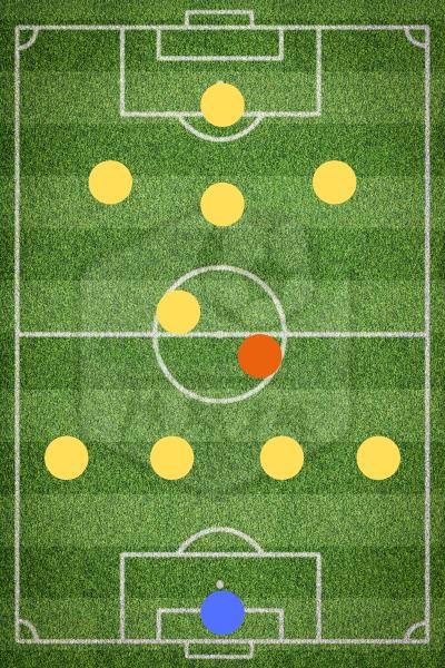 Опорный полузащитник в схеме 4-2-3-1